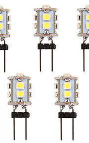 5Pcs G4 3W 10x2835SMD 210LM 5500-6500K Cool White Light LED Corn Bulb  (12V)