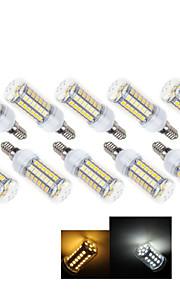 10 stk Ding Yao E14 7 W 49 X SMD 5050 490-600 LM 2800-3500/6000-6500 K Warm White/Kald Hvit Korn Pærer AC 220-240 V