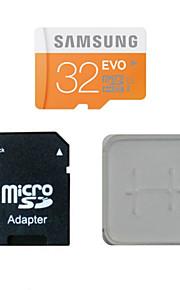 32gb class10 40m / s cartão original samsung tf memória e do cartão de memória e caixa de adaptador do cartão de memória