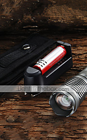 Details about   CREE XM-L T6 LED 2200lm Flashlight +18650 Battery+ Charger+ Holster