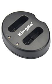 Kingma dubbla kortplatser batteriladdare för Canon NB-12l / Power G1X märke / N100 - svart