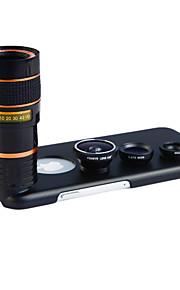 apexel 4 i 1 skit 8x teleobjektiv + vidvinkel + makroobjektiv + fisheye-objektiv med tillbaka fallet för iphone 6