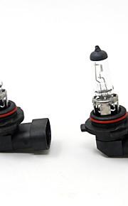 TIROL 2pcs Auto Headlight Bulbs Headlamp Bulbs Halogen 9006 12V 55W Super White 3000K
