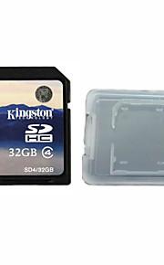 classe 32gb kingston cartão original digital de 4 sd da memória e da caixa de cartão de memória