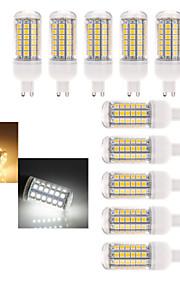 10 stk Ding Yao G9 9 W 48 X SMD 5050 180-600 LM 2800-3500/6000-6500 K Warm White/Kald Hvit Korn Pærer AC 220-240 V