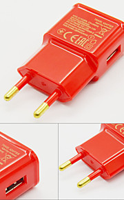 2015 New 2A EU Ac Charger USB Wall Charger Adapter For Iphone And Samsung-Red
