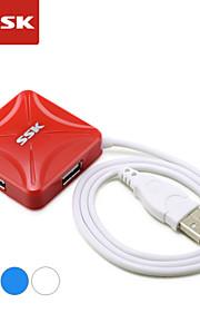 usb 2.0 ssk® shu027-1 de 4 puertos de alta velocidad hub usb