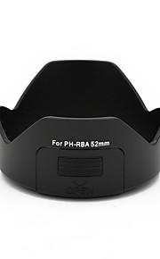 mengs® ph-rba 52 milímetros pétala capa de lente baioneta com uma janela de filtro para pentax da 18-55mm / dal 18-55mm