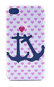 Soulmate  Pattern Transparent Frosted PC Back Cover For  iPhone 4/4S