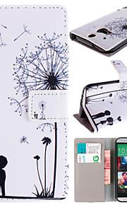HTC 한 M8 용 카드 가방 전신 케이스와 몇 민들레 패턴