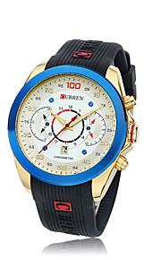 Masculino Relógio de Pulso Silicone Banda Preta / Marrom marca- CURREN
