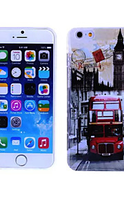 London Bus Pattern TPU And IMD Soft Case for iPhone 5/5S