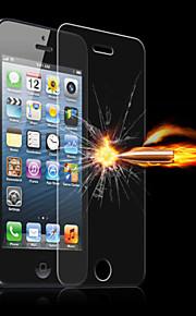 מגן קשיות 9h asling 2.5D 0.26mm הקשת מעשי מזג מסך זכוכית לiPhone 5/5 ג / 5S