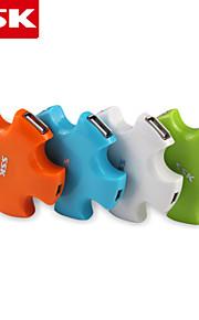 ssk® usb 2.0 shu024 -1 4-poorts high-speed USB-hub