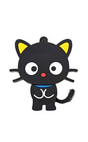 de dibujos animados nuevo negro lindo gato memoria usb 2.0 impulsión de la pluma del flash del palillo 2gb