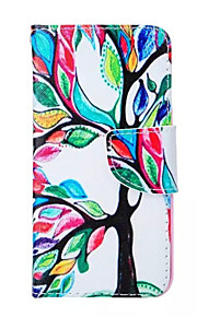 Tree Of Life  Pattern PU Leather Phone Case For iPhone 5/5S