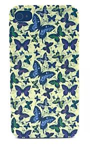 modello di farfalla pc acidato trasparente della copertura posteriore per iPhone 4 / 4S
