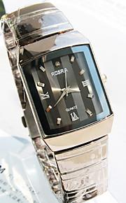 nova pulseira de aço mostrador redondo explosão moda relógio de quartzo homens de negócios