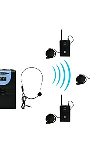2,4 g digital trådløs tour guide / oversættelse (1 sender og 3 modtagere)