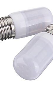 3W E26/E27 LED-kornpærer T 27 SMD 5730 420 lm Varm hvit / Kjølig hvit DC 12 V 2 stk.