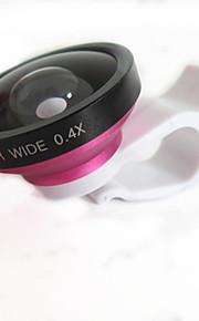 universella 0.4x vidvinkel och makroobjektiv för mobiltelefon och digitalkameror (diverse färg)