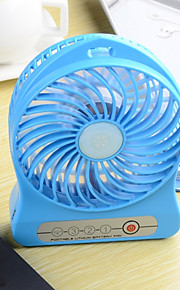 The new portable three mini USB charging 18650 lithium battery fan