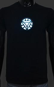 genopladeligt batteri inkluderet lyser førte el t-shirt Iron Man 2 justerbar lyd aktiveret og flere flash-indstillinger
