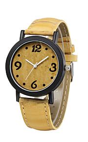 mode luksus vintage ur 4 farve gul dial træ korn armbåndsure afslappet armbånd ur udendørs sport ure