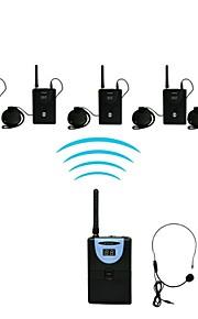 2,4 g digitale drahtlose Reiseleiter / Translationssystem (1 Sender 5 Empfänger)
