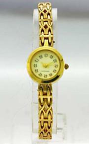 kvinders analog kobber tilfælde runde dial kobber band sten japan kvarts ur kvinder mode ur gave ur dameur