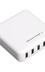 Adaptador de viaje USB cargador inteligente multi-hub de 5 puertos para mp3 tablet iphone 4 5