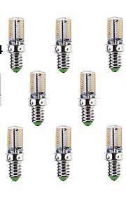 10 stk. E14/G9/G4 3 W 64 SMD 3014 220-240 LM Varm hvit/Kjølig hvit Kornpære AC 220-240 V
