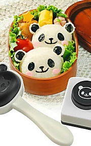 adorável sushi panda cortador de algas molde bola de arroz molde purê de batata conjunto diy de 2