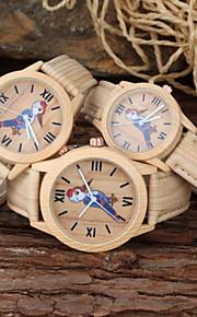 familiy definir pai-filho relógio ocasional cartoon khaki cinta pu relógio de pulso