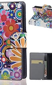 multi-fleur en cuir PU portefeuille plein de cas de corps avec support pour Microsoft lumia 532