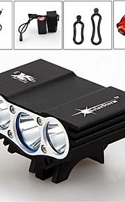 6000Lm 3x CREE XM-L U2 LED Front Bicycle Lamp Bike Light Headlamp+Battery 18650