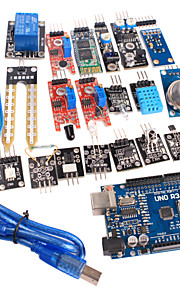 20 in 1 Sensor Module Kit and Improved Version UNO R3 ATMEGA328P Board Module for Arduino