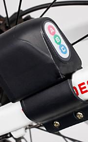 XIE SHENG Cycling/Mountain Bike/Road Bike/MTB/Fixed Gear Bike/Recreational Cycling Bike Locks ABS Alarm lock Black