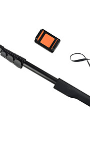 högsta kvalitet trådlös zoomat aluminium enbent selfie stick vikbara handhållen stick storlek: 49x5.5x4.5cm