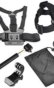 6 in 1 Accessories Kit with Chest Belt, Headstrap, Monopod for GoPro Hero 4/3+/3/2/1 sj4000/sj5000/sj6000/Xiaomi Yi
