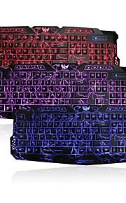 3 kleuren usb verlichte LED backlit crack-patroon gaming toetsenbord voor Windows 8/7 / vista / 98 / XP / 2000 / me