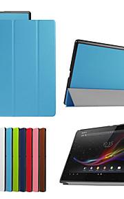 dengpin 10.1''pu lederen tablet beschermende case cover met standaard voor de Sony Xperia z4 tablet (verschillende kleuren)