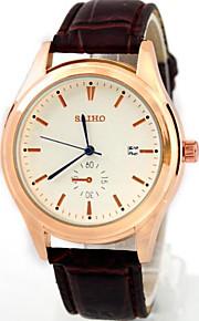 relógios dos homens calendário lazer impermeável relógio cinto de moda