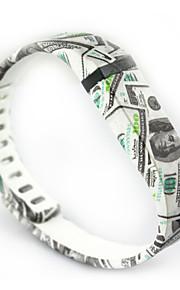 nós padrão dólar pequeno tamanho pulseira de borracha para substituição Fitbit Flex com fecho