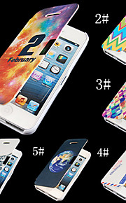 Colorful Painting PU Leather Full Body Case for iPhone 4/4S (Assorted Color)