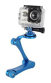 Aluminum Alloy Handheld Folding Selfie Camera Monopod Holder + Tripod Adapter Mount for Gopro (Assorted Colors)