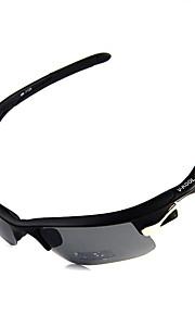 Solbriller menn / kvinner / Unisex's Sport Wrap Svart Sykling Halvkant