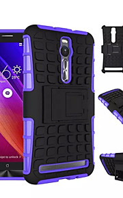 """5.5 """"para el asus 2 zenfone caso pata de cabra, caucho resistente resistente híbrido + caja de la PC armadura antideslizante (colores"""