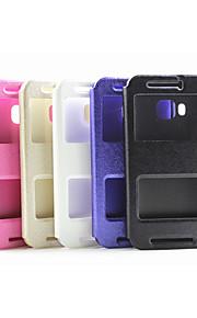HTC의 M8 / M9 / 820mini 모듬 색상에 대한 최신 플립 커버 창 실크 인쇄 간단한 PU 휴대 전화 쉘