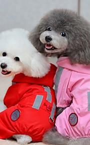 Capa de Chuva - Vermelho/Rosa - de Mistura de Material - Prova-de-Água/Casamento/Fantasias - para Cães/Gatos